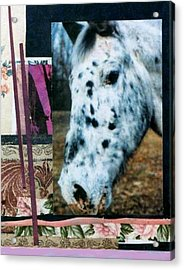 Acrylic Print featuring the mixed media Blotter by Mary Ann  Leitch