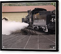 Blowing Off Steam Acrylic Print by T C Hoffman