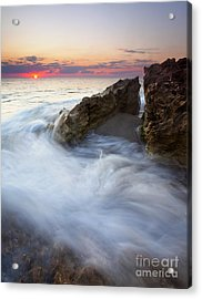 Blowing Rocks Sunrise Acrylic Print by Mike  Dawson