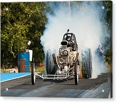 Blown Front Engine Dragster Burnout Acrylic Print