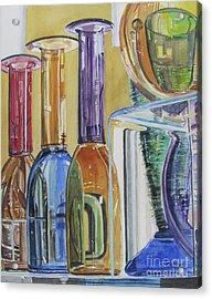 Blown Glass Acrylic Print by Carol Flagg