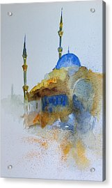 Blu Mosque Acrylic Print by Gianni Raineri