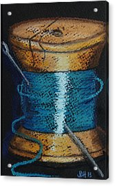 Acrylic Print featuring the drawing Blue 6 by Joseph Hawkins