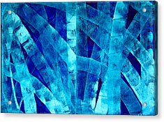 Blue Abstract Art - Paths - By Sharon Cummings Acrylic Print by Sharon Cummings
