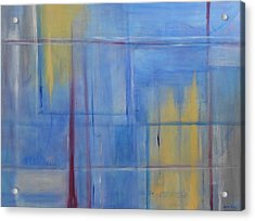 Blue Abstract Acrylic Print by Jamie Frier
