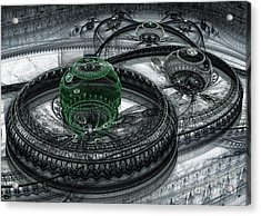 Dark Alien Landscape Acrylic Print