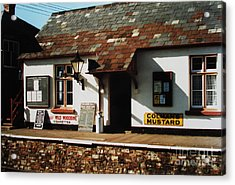 Blue Anchor Ticket Office Acrylic Print by Martin Howard
