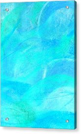 Blue And Aqua Abstract Acrylic Print