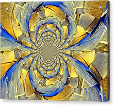 Blue And Gold Acrylic Print by Marty Koch