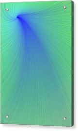 Blue And Green Abstract Acrylic Print by Paul Sale Vern Hoffman