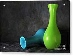 Blue And Green Acrylic Print by Dan Holm