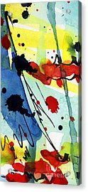 Blue  And Red Intuitive Abstract Series #1 Acrylic Print