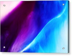 Blue And Violet Dyes In Liquid Acrylic Print by Mimi  Haddon