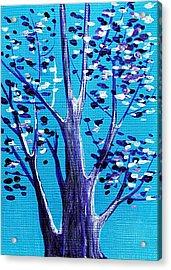 Blue And White Acrylic Print by Anastasiya Malakhova