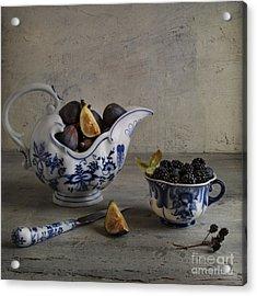 Blue And White China Acrylic Print by Elena Nosyreva