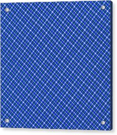 Blue And White Diagonal Plaid Pattern Cloth Background Acrylic Print