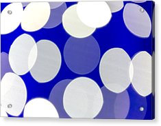 Blue And White Light Acrylic Print