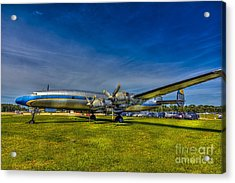 Blue And Yellow Connie Acrylic Print