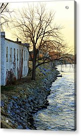 Blue And Yellow Morning Acrylic Print