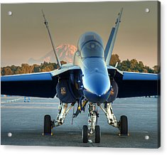 Acrylic Print featuring the photograph Blue Angel At Sunset by Jeff Cook