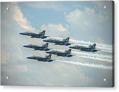 Blue Angels Delta Pass Acrylic Print