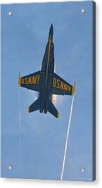 Acrylic Print featuring the photograph Blue Angels Ghost Appears Over Pensacola Beach by Jeff at JSJ Photography