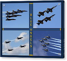 Acrylic Print featuring the photograph Blue Angels by John Freidenberg