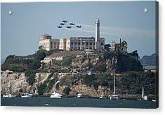 Blue Angels Over Alcatraz Acrylic Print by Mountain Dreams