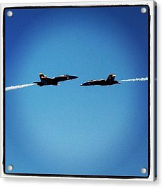 blue Angels Playing Acrylic Print