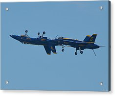 Acrylic Print featuring the photograph Blue Angels Practice Up And Down With Low And Slow by Jeff at JSJ Photography