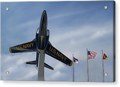 Acrylic Print featuring the photograph Blue Angels Tribute by Victor Montgomery