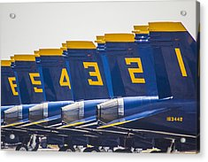 Blue Angels Wings Acrylic Print by John McGraw