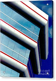Blue Angled Acrylic Print by Gary Gingrich Galleries