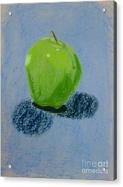 Blue Apple Acrylic Print by Christopher Murphy