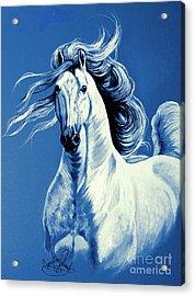 Blue Attitude Acrylic Print