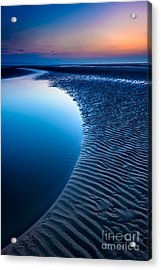 Blue Beach  Acrylic Print by Adrian Evans
