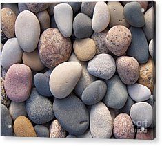 Blue Beach Stones Acrylic Print by Kathi Mirto