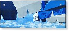 Blue Beach Umbrellas 2 Acrylic Print
