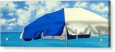 Blue Beach Umbrellas 1 Acrylic Print