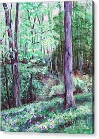 Blue Bells In Bloom Acrylic Print by Janet Felts