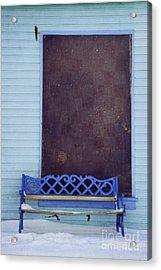 Blue Bench Acrylic Print by Priska Wettstein