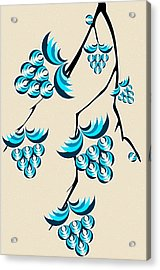Blue Berries Branch Acrylic Print