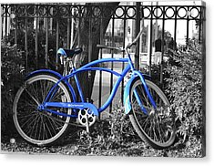 Blue Bike Acrylic Print