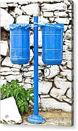 Blue Bins Acrylic Print
