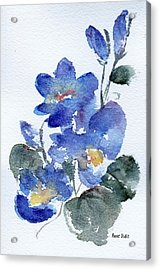 Acrylic Print featuring the painting Blue Blooms by Anne Duke