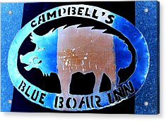Acrylic Print featuring the photograph Blue Boar Inn II by Larry Campbell