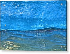 Blue Boat Abstract Acrylic Print by David Letts