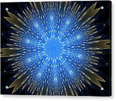 Blue Boldness Mandala Acrylic Print