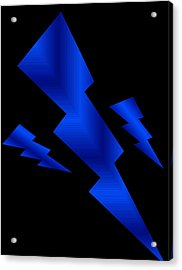 Acrylic Print featuring the digital art Blue Bolts by Gayle Price Thomas