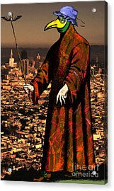 Blue Bonnet Plague Doctor Of San Francisco 20140306 Acrylic Print by Wingsdomain Art and Photography